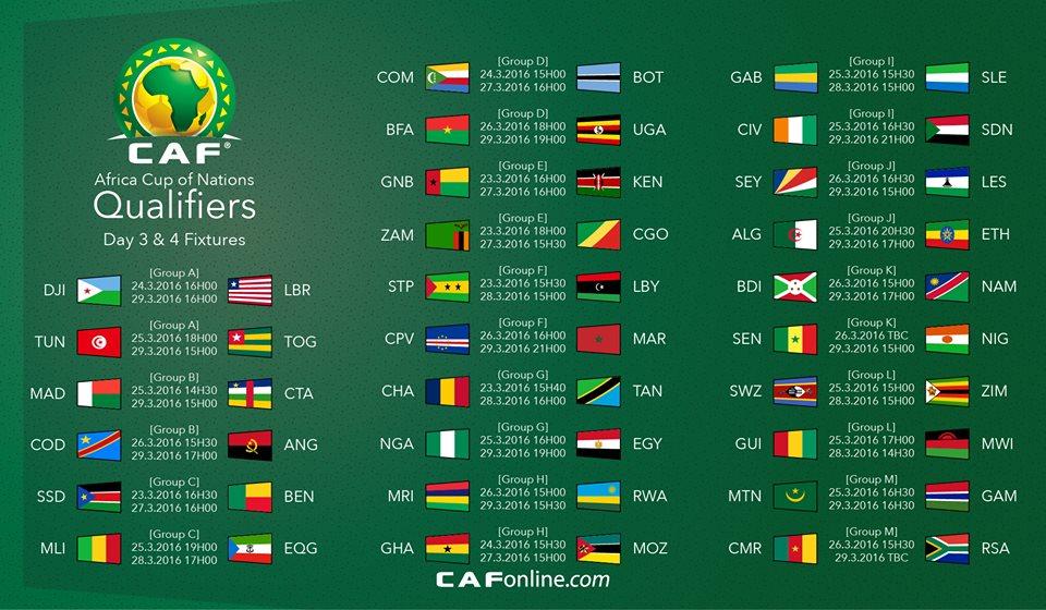 Can 2017 gabon - Programme de la coupe d afrique ...