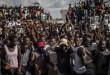Les partisans de Guy Brice Parfait Kolélas, un des candidats de l'opposition à la dernière élection présidentielle, à Brazzaville, Congo, 23 mars 2016.