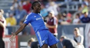 Didier Drogba le 22 août 2015 à Montréal. © Graham Hughes/AP/SIPA