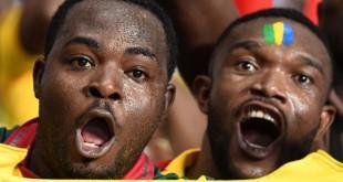 Des supporters gabonais lors de la CAN 2017. ©GABRIEL BOUYS / AFP