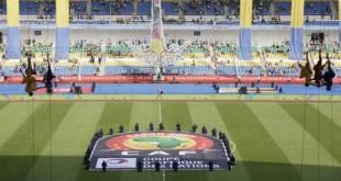 La cérémonie d'ouverture de la CAN 2017 à Libreville, au Gabon, le 14 janvier. © Sunday Alamba/AP/SIPA