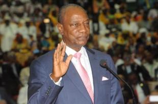 Les partis d'opposition redoutent que le président guinéen Alpha Condé ne décide de briguer un troisième mandat. © CELLOU BINANI / AFP