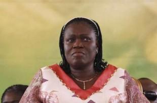 L'ex-Première dame ivoirienne, Simone Gbagbo, le 15 janvier 2011 à Abidjan. © Rebecca Blackwell/AP/SIPA