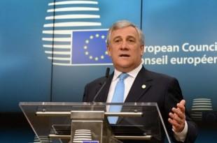 Antonio Tajani au parlement européen le 9 mars 2017. © Jakub Dospiva/AP/SIPA