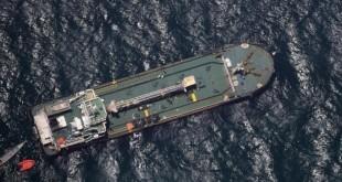 Le pétrolier «Aris 13», au large des côtes du Puntland. © Eunavfor