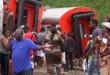 Selon le bilan officiel, 79 personnes ont péri dans l'accident de train survenu à Eseka, au Cameroun, le 21 octobre 2016. © AP/SIPA