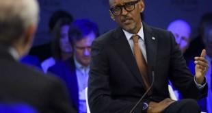 Le président rwandais Paul Kagame lors d'un forum économique de Davos le 19 janvier 2017. © Gian Ehrenzeller/AP/SIPA