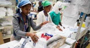 Cette année, l'Éthiopie devrait connaître une croissance de 7,5 % (ici, une usine textile à Addis-Abeba). © kay nietfeld/dpa/AFP