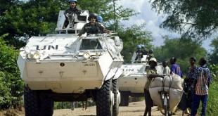 Une patrouille des soldats de la MONUSCO