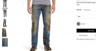 """Extrait du site internet du magasin Nordstrom proposant à la vente le jean """"sale"""". (VOA)"""
