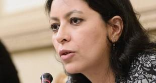 La sénatrice de Paris Leila Aïchi en avril 2015 à l'Assemblée nationale. © BERTRAND GUAY / AFP