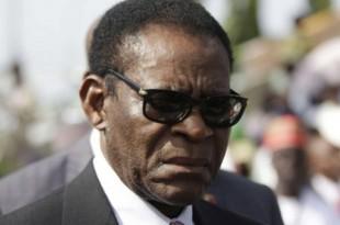 Teodoro Obiang Nguema Mbasogo à Abuja, au Nigeria, le 29 mai 2015. © Sunday Alamba/AP/SIPA