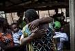 Retrouvailles de personnes déplacées par les violences au Kasaï à Gungu: il y a plus d'un million de déplacés en RDC (6 juin 2017). © JOHN WESSELS / AFP