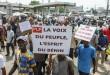 Des opposants au président Talon marchent à Cotonou, Bénin, le 22 juin 2017. © Yanick Folly / AFP