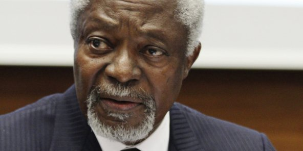 Kofi Annan, en mars 2016. © UN Photo/Elma Okic