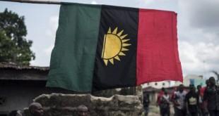 Manifestation le 28 mai 2017 pour commémorer le 50e anniversaire de la guerre du Biafra.© STEFAN HEUNIS / AFP