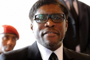 Teodorin Obiang, le fils de l'actuel président de Guinée équatoriale en 2012. © Photo: AFP/Abdelhak Senna