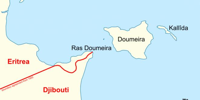 Le cap de Doumeira (Ras Doumeira) et les îles du même nom, à la frontière entre Djibouti et l'Erythrée. © Wikimedia Commons / Archer90