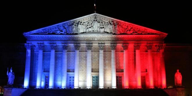 Le palais Bourbon, siège de l'Assemblée nationale française. LUDOVIC MARIN / AFP