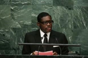 Teodorin Obiang, le 30 septembre 2015 au siège des Nations Unies. © Frank Franklin II/AP/SIPA