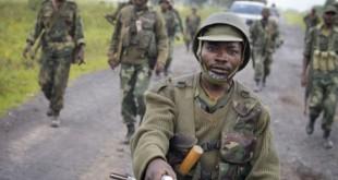 Des soldats congolais à Kitumba (RDC), en 2013. © Joseph Kay/AP/SIPA