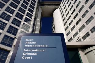 L'entrée de la Cour pénale internationale, à La Haye. © REUTERS/Jerry Lampen