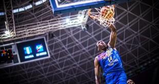 Le Congolais Hervé Kabasélé lors de l'Afrobasket 2017. Courtesy of FIBA