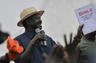 © Tony Karumba, AFP | Le leader de l'opposition kényane, Raila Odinga, lors d'un rassemblement à Nairobi, le 3 septembre 2017.
