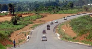 Un segment de la route reliant Brazzaville, Dolisie et Pointe noire. © AFP PHOTO / Laudes Martial Mbon