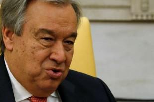 Le secrétaire général des Nations unies, Antonio Guterres