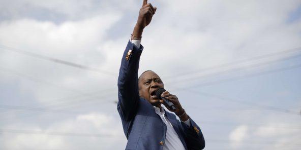 Le président kényan Uhuru Kenyatta lors d'un meeting. CURTIS/AP/SIPA