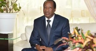 L'ancien président du Burkina Faso, Blaise Compaoré, qui vit exilé en Côte d'Ivoire (photo d'archives). © © AFP/Issouf Sanogo
