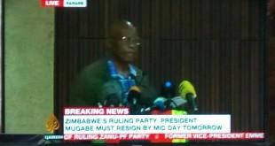 Le parti au pouvoir, la ZANU-PF démissionne Robert Mugabe de la présidence du parti