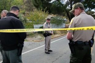 © Elijah Nouvelage, AFP Des policiers sur l'une des scènes de crime à Rancho Tehama, en Californie, le 14 novembre 2017.