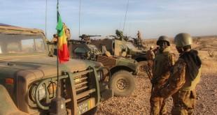 Militaires de la force conjointe du G5 Sahel, dans la région d'In Tillit, au Mali, lors de leur premier déploiement, début novembre 2017. A Washington, les Africains ont insisté sur la question du Sahel. RFI / Anthony Fouchard