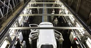 Fabrication de la Dacia Lodgy dans l'usine Renault de Tanger. © renault/brossard/REA