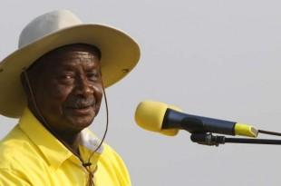Le président ougandais, Yoweri Museveni, en meeting à Kampala, le 11 février 2016. Crédits : James Akena / REUTERS