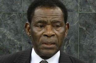Le président de la Guinée équatoriale, Teodoro Obiang Nguema Mbasogo au siège de l'ONU, à New York, le 26 septembre 2013. © Justin Lane/AP/SIPA