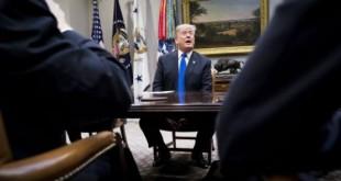 Donald Trump, lors d'une rencontre avec des sénateurs républicains,le 4janvier àla Maison-Blanche. © DOUG MILLS/NYT-REDUX-REA