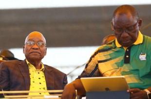 """Cyril Ramaphosa a déclaré que l'avenir de Jacob Zuma serait réglé """"avec le temps""""."""