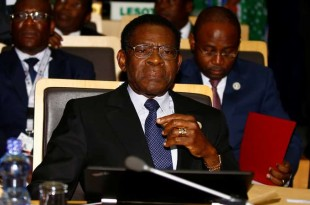 Le président équato-guinéen Teodoro Obiang Nguema, au pouvoir depuis 1979, lors du 28e sommet de l'Union africaine, à Addis-Abeba, le 30 janvier 2017. Crédits : Tiksa Negeri / REUTERS