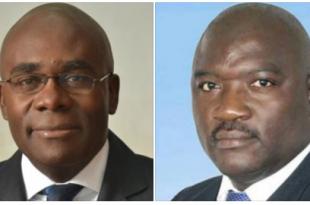 Olivier Bile, Président de l'Ufp et Jacques Maboula, Maire de la commune d'arrondissement de Yabassi