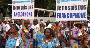 Des Camerounais « unionistes » manifestent à Douala contre les revendications séparatistes des régions anglophones, le 1er octobre 2017. Crédits : REUTERS