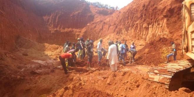 Photo de l'association Forêts et Développement Rural (FODER) prise le 30 décembre, sur le site minier où s'est produit l'éboulement, dans la région de l'Est.