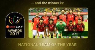 L'Egypte désignée meilleure équipe nationale africaine de football, en 2017. CAF