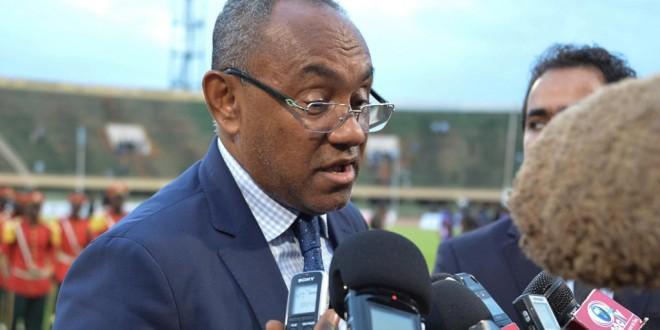 Le président de la CAF, le Malgache Ahmad. Ahmed OUOBA / AFP