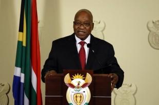 Le président sud-africain Jacob Zuma a annoncé sa démission en direct à la télévision, ce mercredi 14 février. © Phill Magakoe / AFP