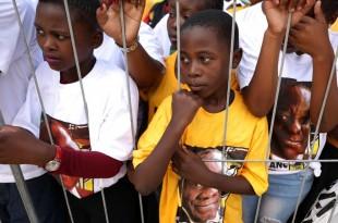 Centenaire de Nelson Mandela célébré au Cap le 11 février 2018. © REUTERS/Mike Hutchings