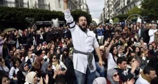 © RYAD KRAMDI / AFP Manifestation de médecins le 12 février 2018 à Alger.