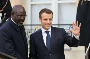 © Ludovic Marin, AFP Emmanuel Macron et son homologue libérien George Weah, à l'Élysée le 21 février 2018.